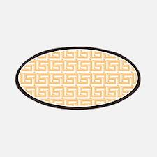Elegant Yellow Greek Key Patches