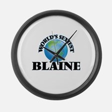 World's Sexiest Blaine Large Wall Clock