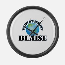 World's Sexiest Blaise Large Wall Clock