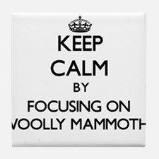 Keep Calm by focusing on Woolly Mammo Tile Coaster