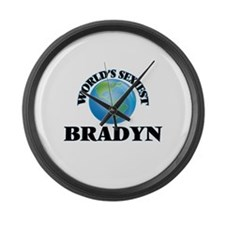 World's Sexiest Bradyn Large Wall Clock