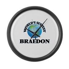 World's Sexiest Braedon Large Wall Clock