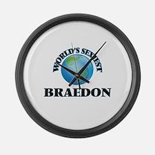 World's Sexiest Braedon Large Wall Clock