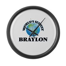 World's Sexiest Braylon Large Wall Clock
