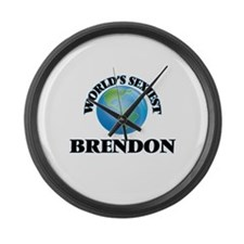 World's Sexiest Brendon Large Wall Clock