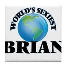 World's Sexiest Brian Tile Coaster
