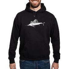 Sail Fish Silhouette Hoodie