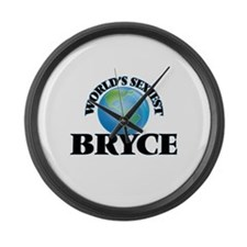 World's Sexiest Bryce Large Wall Clock