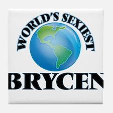 World's Sexiest Brycen Tile Coaster