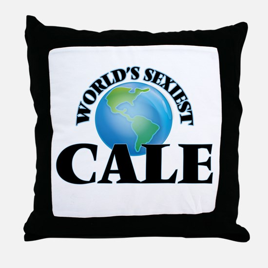 World's Sexiest Cale Throw Pillow