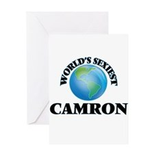 World's Sexiest Camron Greeting Cards
