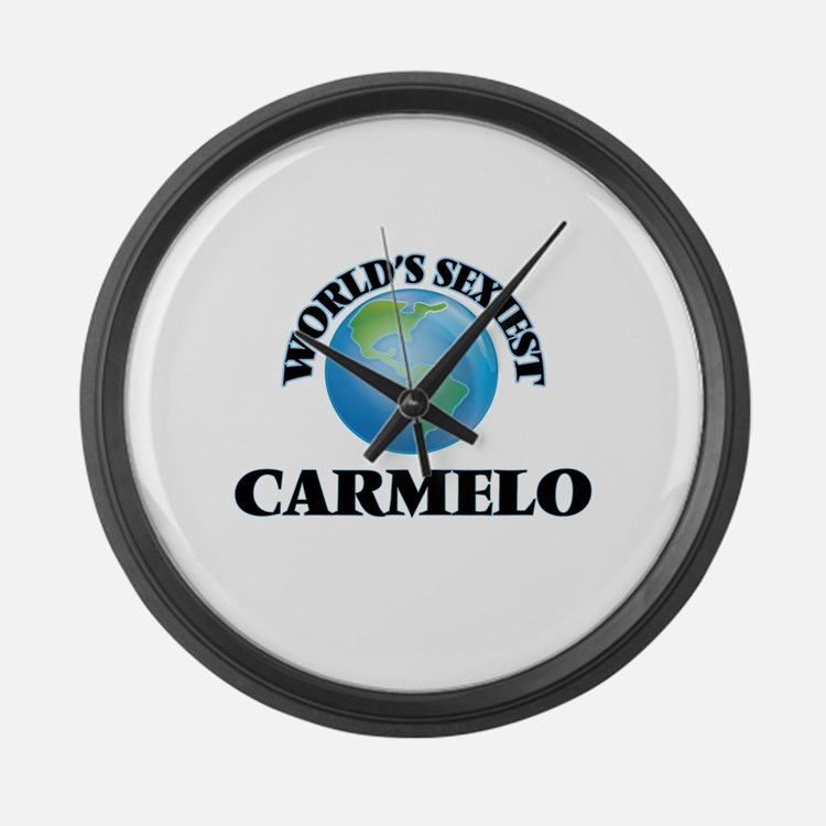 World's Sexiest Carmelo Large Wall Clock