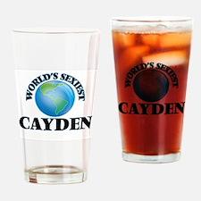 World's Sexiest Cayden Drinking Glass