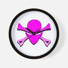 See-Speak-Hear-No EVIL Pink Wall Clock