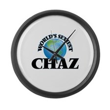 World's Sexiest Chaz Large Wall Clock