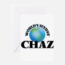 World's Sexiest Chaz Greeting Cards