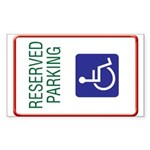 Disabled Persons Personal Rectangle Sticker