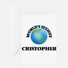 World's Sexiest Cristopher Greeting Cards