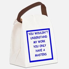 Unique Masters degree Canvas Lunch Bag