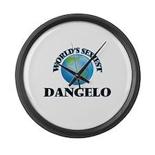 World's Sexiest Dangelo Large Wall Clock