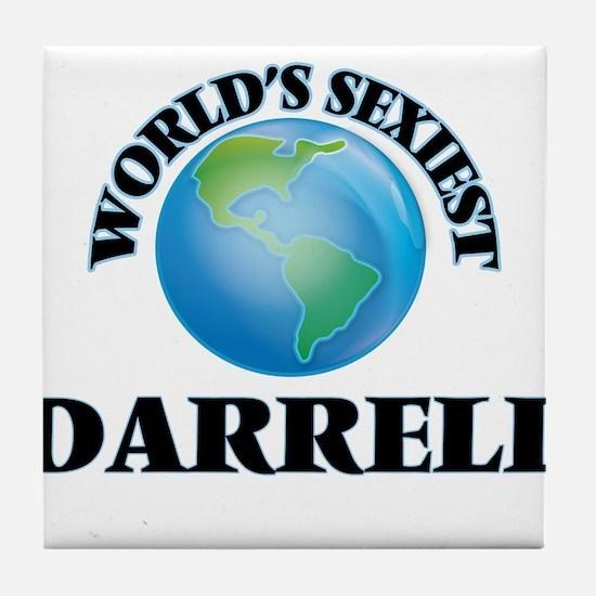 World's Sexiest Darrell Tile Coaster