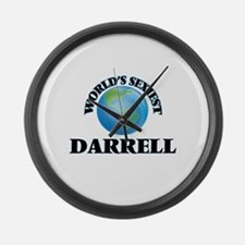 World's Sexiest Darrell Large Wall Clock