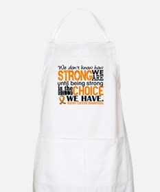 Kidney Cancer HowStrongWeAre (Orange) Apron