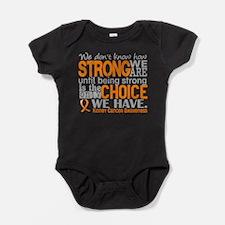 Kidney Cancer HowStrongWeAre (Orange Baby Bodysuit