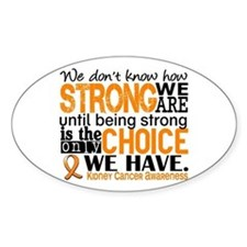 Kidney Cancer HowStrongWeAre (Orang Decal