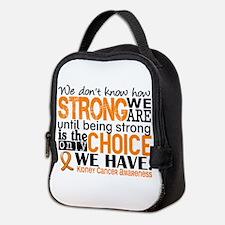 Kidney Cancer HowStrongWeAre (O Neoprene Lunch Bag