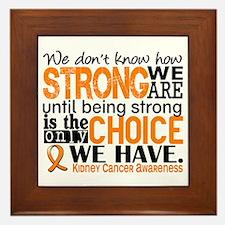 Kidney Cancer HowStrongWeAre (Orange) Framed Tile