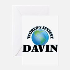World's Sexiest Davin Greeting Cards