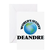 World's Sexiest Deandre Greeting Cards