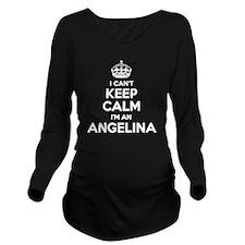 Cute Angelina Long Sleeve Maternity T-Shirt