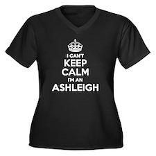 Unique Ashleigh Women's Plus Size V-Neck Dark T-Shirt