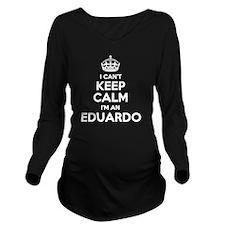 Funny Eduardo Long Sleeve Maternity T-Shirt