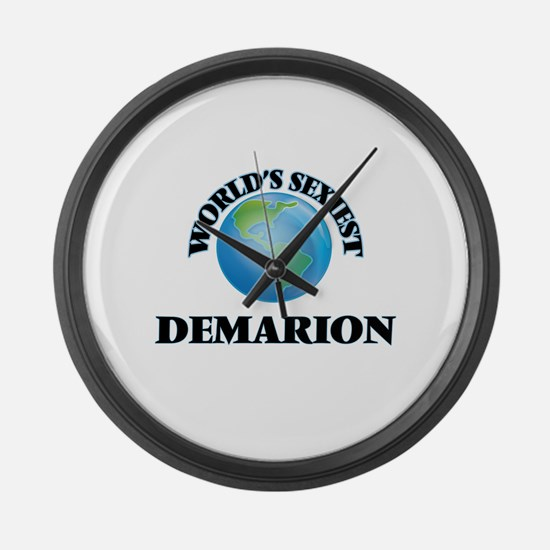 World's Sexiest Demarion Large Wall Clock