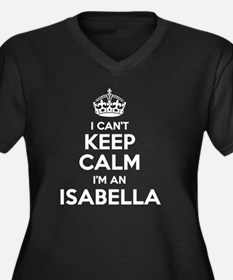 Cute Isabella Women's Plus Size V-Neck Dark T-Shirt