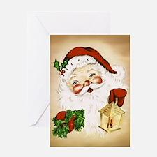 Vintage Santa 2 Greeting Cards