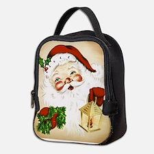 Vintage Santa 2 Neoprene Lunch Bag