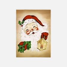 Vintage Santa 2 5'x7'Area Rug