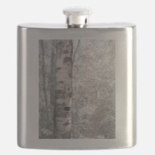 Birch Tree In Forest Flask