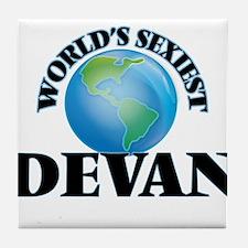 World's Sexiest Devan Tile Coaster