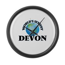World's Sexiest Devon Large Wall Clock