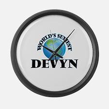 World's Sexiest Devyn Large Wall Clock
