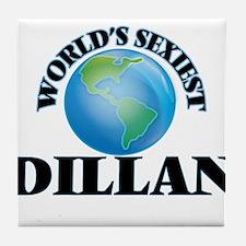 World's Sexiest Dillan Tile Coaster