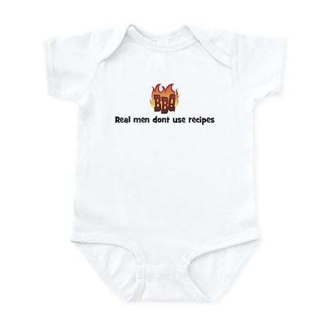 BBQ Fire: Real men dont use r Infant Bodysuit