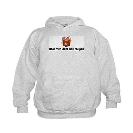 BBQ Fire: Real men dont use r Kids Hoodie