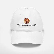 BBQ Fire: Real men dont use r Baseball Baseball Cap