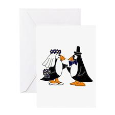 Penguin Wedding Greeting Cards